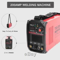 200 AMP Plasma Cutter TIG200 Argon Arc Welding Machine Digital Inverter 110/220V