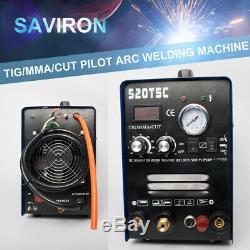200A TIG Pilot Arc Welder MMA Welding Machine 50A Plasma Cutter Argon Gas Weld