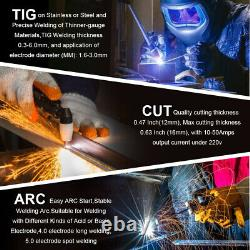 3 IN 1 CUT TIG MMA 50A CT520 Multifunction Plasma Cutter 220V 200Amp with Helmet