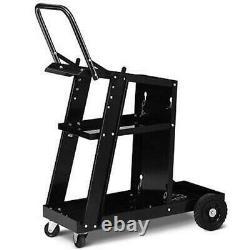 3-Tier Welding Cart Plasma Cutter Welder MIG TIG ARC Universal withTank Storage