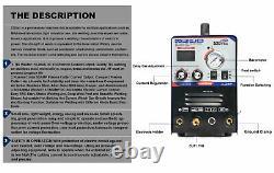 3 in 1 50A Plasma Cutter STICK TIG Welder 200A TIG MMA Welding Machine 110/220V