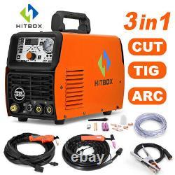 3in1 50A Air Plasma Cutter 210A TIG Welder MMA ARC Welding Machine PT31 WP17V US