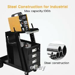 4 Drawer Cabinet Universal Welding Cart MIG TIG ARC Plasma Cutter Tank Storage