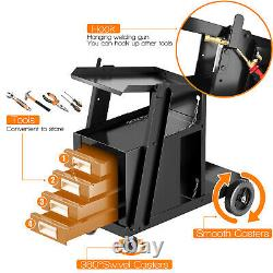 4 Drawer Cabinet Welding Welder Cart Plasma Cutter Tank Storage MIG TIG ARC New
