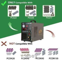 50 Amp Non-Touch Pilot Arc Plasma Cutter, 200 Amp TIG/Stick Welder 3-in-1 Combo