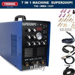 50A Plasma Cutter 200A AC/DC PULSE TIG/MMA ALUMINIUM WELDER MACHINE & 7in1