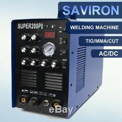 50Amp Plasma Cutter 200Amp TIG Agron ARC Welder AC/DC Aluminum Welding Machine