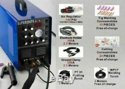 7 in 1 Plasma Cutter IGBT 200A AC/DC PULSE TIG/MMA ALUMINIUM Welde 220V±15%