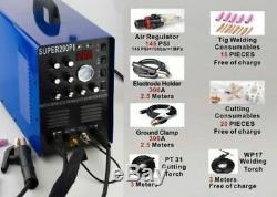 7 in 1 Plasma Cutter IGBT 200A AC/DC PULSE TIG/MMA ALUMINIUM Welder UK Stock