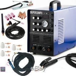 AC/DC Welder 50A Plasma Cutter 200A TIG Argon Gas MMA ARC Stick Welding Machine