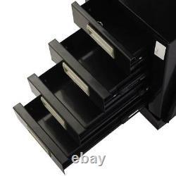 Black Welding Cart with 4 Drawer Cabinet MIG TIG ARC Plasma Cutter Tank Storage