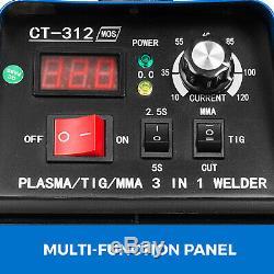 CT-312 TIG/Stick/Plasma Cutter 3 in 1 Combo Welder DC Inverter IGBT 110V/220V