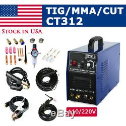 CT312/CT312 Pilot Arc TIG/MMA/CUT Air Plasma Cutter Welding Machine 110/220V US