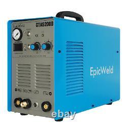 EPICWELD GTA5200D Plasma Cutter / 200A Tig / Stick Welder 7D Support