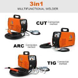 HITBOX 3-IN1 Multiprocess Welder Cutter TIG MMA ARC Welder 50A Air Plasma Cutter