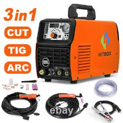 HITBOX CUT/TIG/MMA 50A CT520 Multifunction Plasma Cutter 3in1 200Amp with Helmet