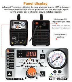 HITBOX Cut TIG MMA Welder Air Plasma Cutter 3 in 1 Combo Welding Machine CT520