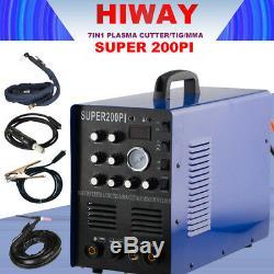 Inverter IGBT 7In1 Plasma Cutter CUT/TIG/MMA Super 200PI 220V Welder Machine New