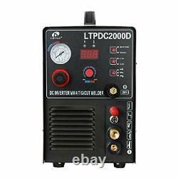 LOTOS 04-ZVGR-0O8D LTPDC2000D Non-Touch Pilot Arc 50A Plasma Cutter 200A Tig W