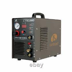 LOTOS LTPDC2000D Non-Touch Pilot Arc 50A Plasma Cutter 200A Tig Welder & Stic