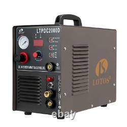 LOTOS LTPDC2000D Non-Touch Pilot Arc 50A Plasma Cutter 200A Tig Welder Stick W