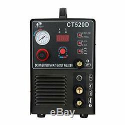 Lotos CT520D Air Plasma Cutter/Tig/Stick Welder 3 in 1 Combo Welding Machine