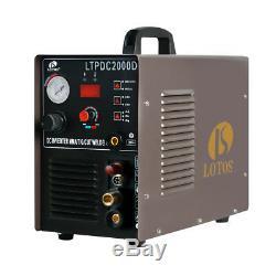 Lotos LTPDC2000D Plasma Cutter Pilot Arc 50Amp Dual Volt 200A TIG/ Stick Welder