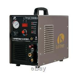 Lotos LTPDC2000D Plasma Cutter Tig Stick Welder 3 in 1 Combo Welding Machine, 50