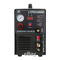 Lotos Ltpdc2000D Non-Touch Pilot Arc Plasma Cutter Tig Welder And Stick Welde