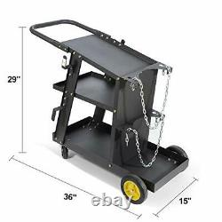MIG TIG ARC Welder Plasma Cutter Durable Cart with 370 Lbs Weight Capacity 3