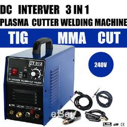 Non-Touch Pilot Arc Plasma Cutter/Tig/Stick Welder 3 in 1 Combo Welding Machine