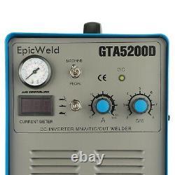 Plasma Cutter 50 A 200 Amp Tig Welder Stick 3 in 1 Dual Voltage 120/240 3yr warr