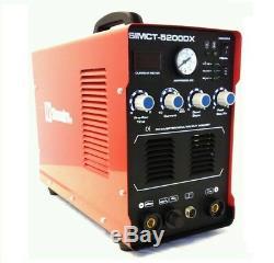 Plasma Cutter 50a Simadre 110/220v 200a Tig Arc Mma Welder Ft Pedal Argon Reg