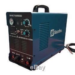 Plasma Cutter 50a Simadre 110/220v 5200d 200a Tig Arc Mma Welder Argon Ft Pedal