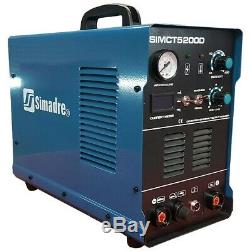 Plasma Cutter 50a Simadre 110/220v 5200d 200a Tig Arc Mma Welder Argon Reg 3in1