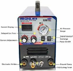 Plasma Cutter STICK TIG Welder 3 in 1 Combo 50A Air Inverter Plasma Cutter