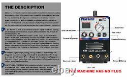 Plasma Cutter Tig Welder CT520 TIG MMA 3 In 1 DC Inverter HF Start 110/220V
