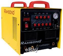 Ramsond Super250DY Multi-Function Digital Inverter Plasma Cutter Welder