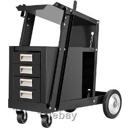 Rolling Welding Cart with Tank Storage, 4 Drawers for TIG MIG Welder Plasma Cutter
