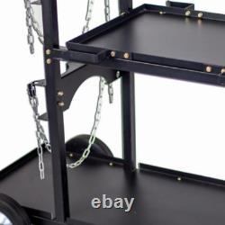 Steel Heavy Plasma Cutters Tig Mig Universal Welding Welder Storage Cart Cabinet