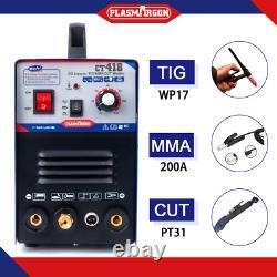 TIG MMA Cut Plasma Cutter Welder Inverter Stick Welding Machine 3in1 CT418