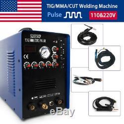 TIG PULSE Welding Machine IGBT Inverter MMA Stick Argon Welder 50A Plasma Cutter