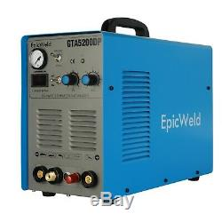 TIG WELDER with Arc Welding and PLASMA CUTTER 50 Amp PILOT ARC 200 Amps Tig Weld