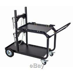 Universal Welding Cart Storage Cabinet TIG Wire Welder Plasma Cutter Holder