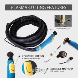 VIVOHOME 3-in-1 CT520D Plasma Cutter TIG ARC STICK MMA Welder Welding 50A/200A