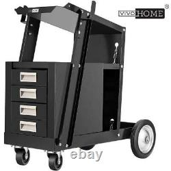 VIVOHOME Welding Cart with Tank Storage, 4 Drawers TIG MIG Welder Plasma Cutter