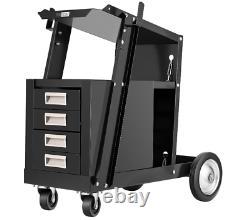 VIVOHOME Welding Welder Cart Plasma Cutter Tank Storage Cabinet MIG TIG ARC