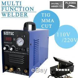 Welder Machine Plasma Cutter 520TSC 3IN1 ARC TIG/MMA/CUT + Foot Pedal Accessorie