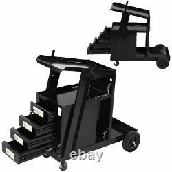 Welding Welder Cart with4 Drawer Cabinet MIG TIG ARC Plasma Cutter Tank Storage