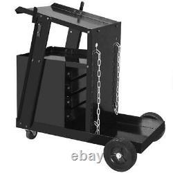 ZENY 4 Drawer Welding Welder Trolley Cart Plasma Cutter Tank Storage MIG TIG ARC